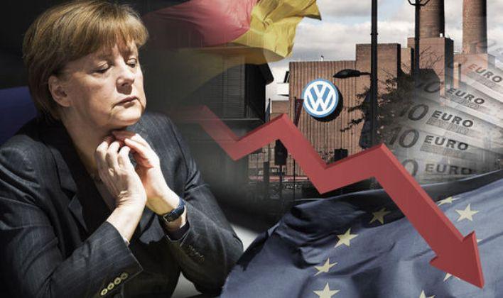 Најголем пад на германскиот извоз од обединувањето во 1990 година
