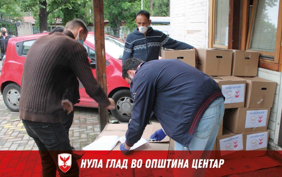 Општина Центар подели илјада пакети храна од почетокот на корона кризата