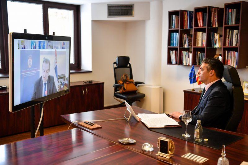 Видео-конференција на министрите за надворешни работи од регионот за справување со пандемијата