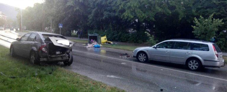 Верижен судир на пет возила во Битола