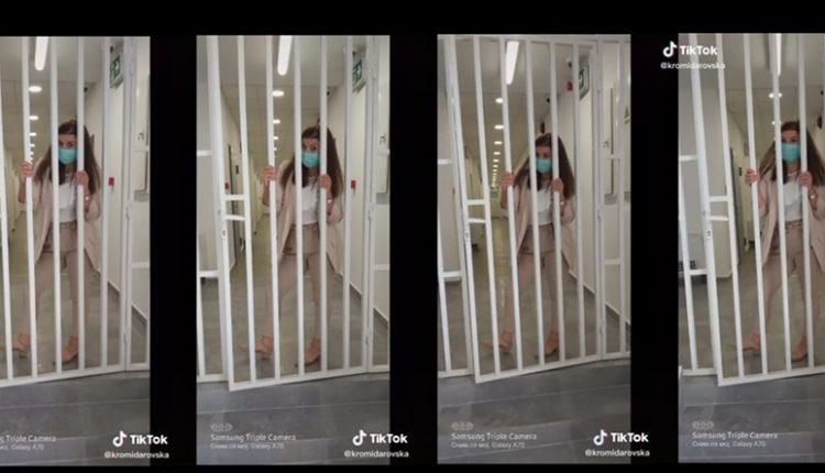 """(ВИДЕО) Цеца """"грми"""" во затворот во Битола: Вработена """"меша"""" пред затворските решетки"""