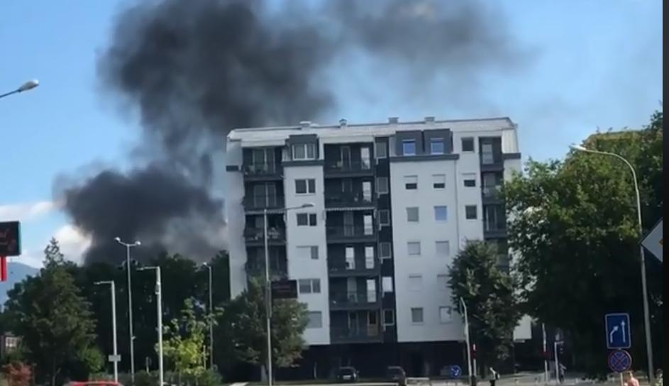 (ФОТО) Пожар и густ чад во Карпош 4