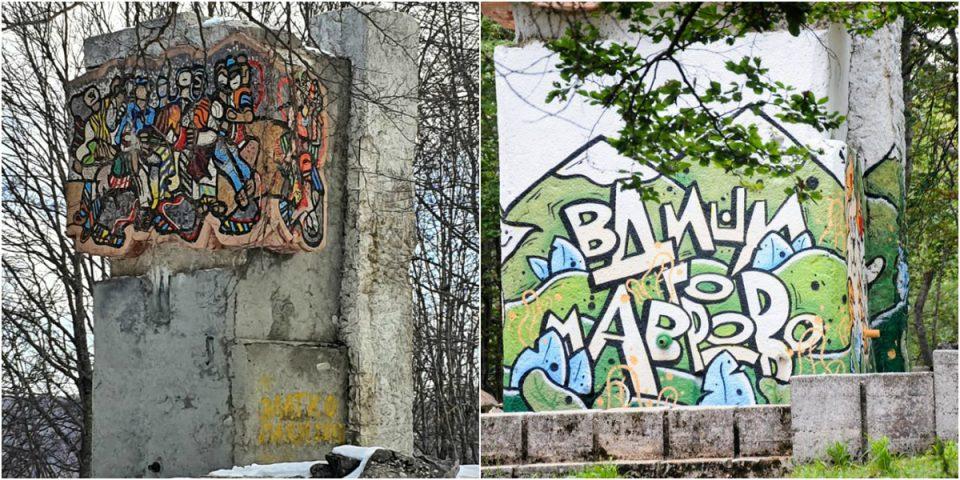"""Откако го уништија споменикот на Чемерски и Раѓеновиќ, """"Ресорт Маврово"""" ќе го враќа во првобитна состојба"""