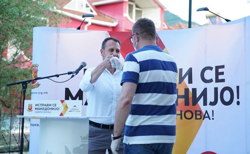 Мицкоски и Јанушев во Пехчево: Матрицата на СДСМ е криминал, национално предавство и  заробено судство