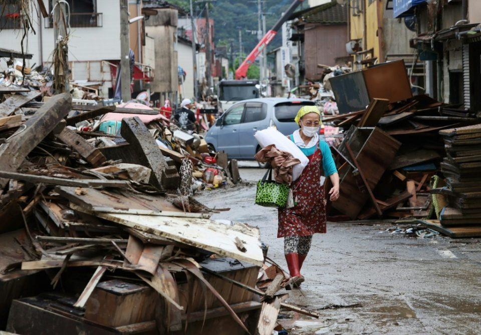 Евакуација на два Јапонски градови поради поројните дождови на западот на земјата