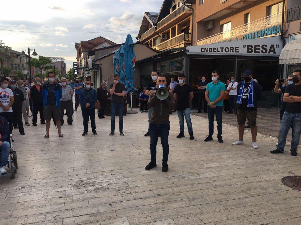 И во Дебар граѓаните протестираа против поскапување на струјата