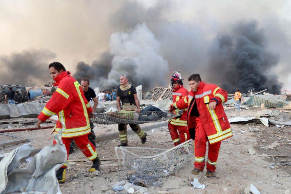 (ВИДЕО) Расте бројот на жртви од експлозијата во Бејрут: Се трага по преживеани под урнатините