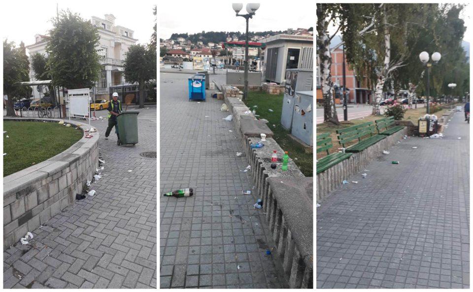 (ФОТО) Охрид за Илинден преполн со туристи, но и со ѓубре: Годинава вандализмот, нехигиената и некултурата на туристите го достигна врвот