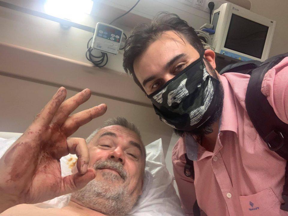 (ФОТО) Митовски го посети Палевски во болница: Напаѓачите се фатени со безбедносни камери