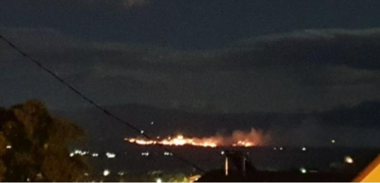 Пожар во близина на РЕК Битола избил вечерва