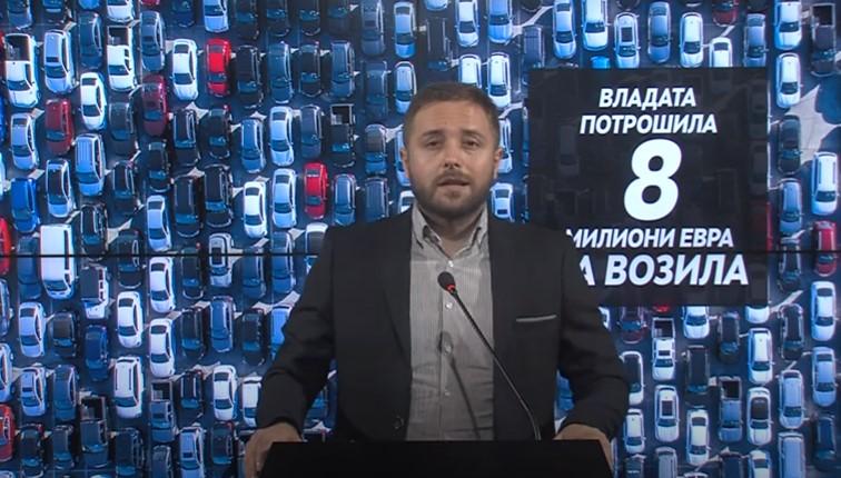(ВИДЕО) Арсовски: СДСМ за три години потроши 8 милиони евра за луксузни автомобили
