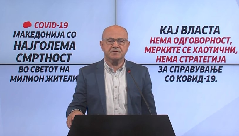 (ВИДЕО) Марковски: Имаме најголема смртност во светот на милион жители од КОВИД