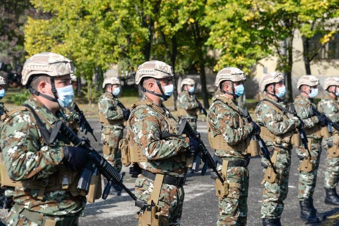 Првиот контингент на Армијата на С. Македонија испратен во мисијата КФОР на Косово