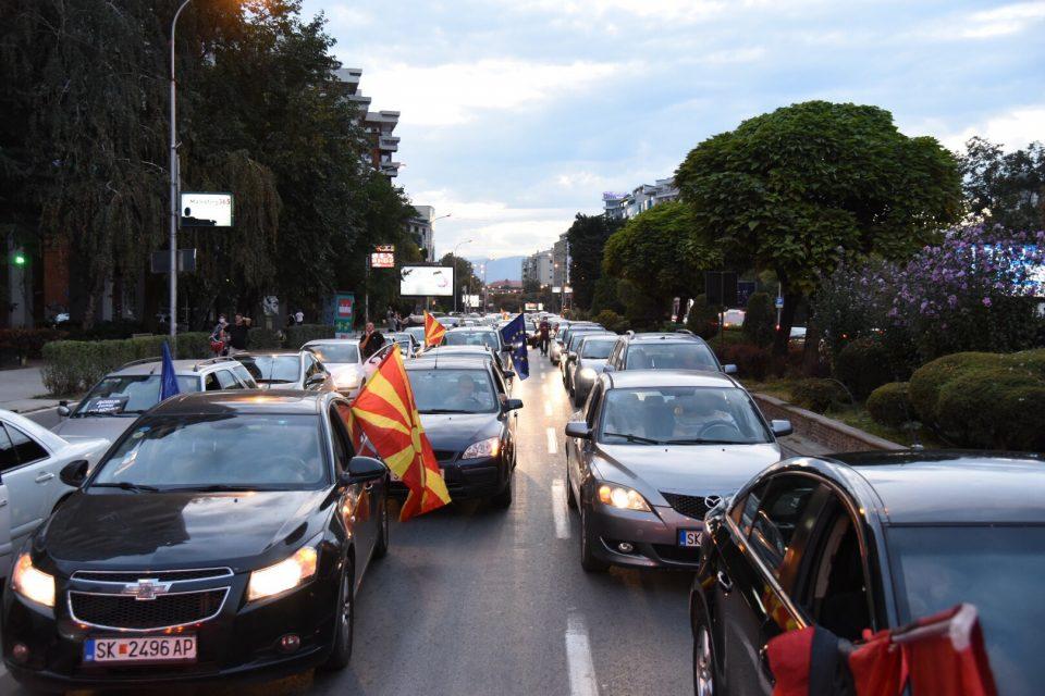Нови протести со возила на ВМРО-ДПМНЕ во Скопје и во шест други градови