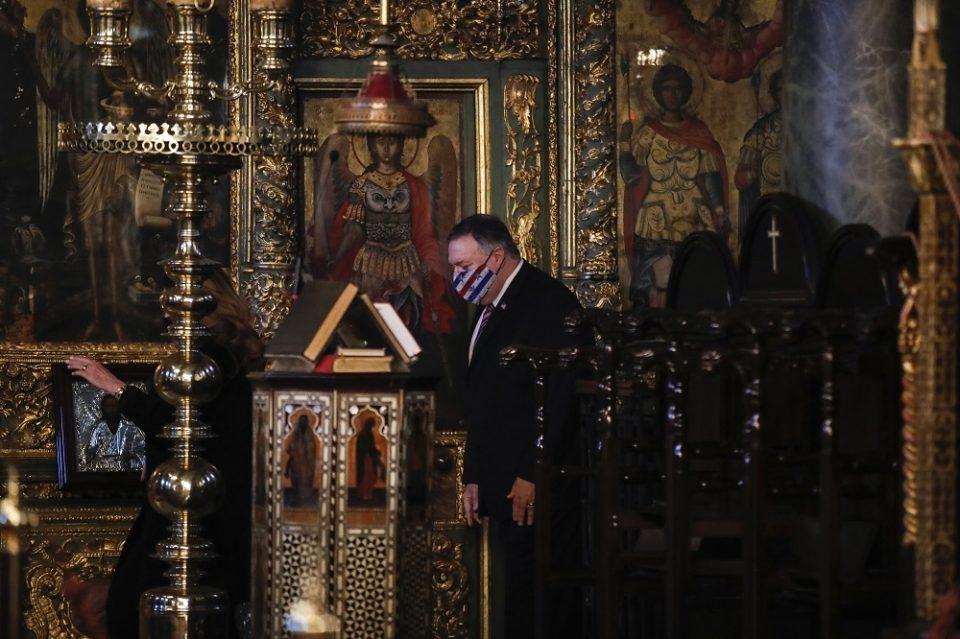 Помпео разговараше со Вселенскиот патријарх Вартоломеј во Истанбул