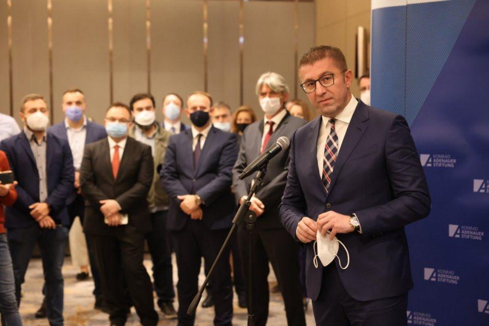 Мицкоски: Има добра основа за идна коалиција со албанските опозициски партии и опозициски фронт