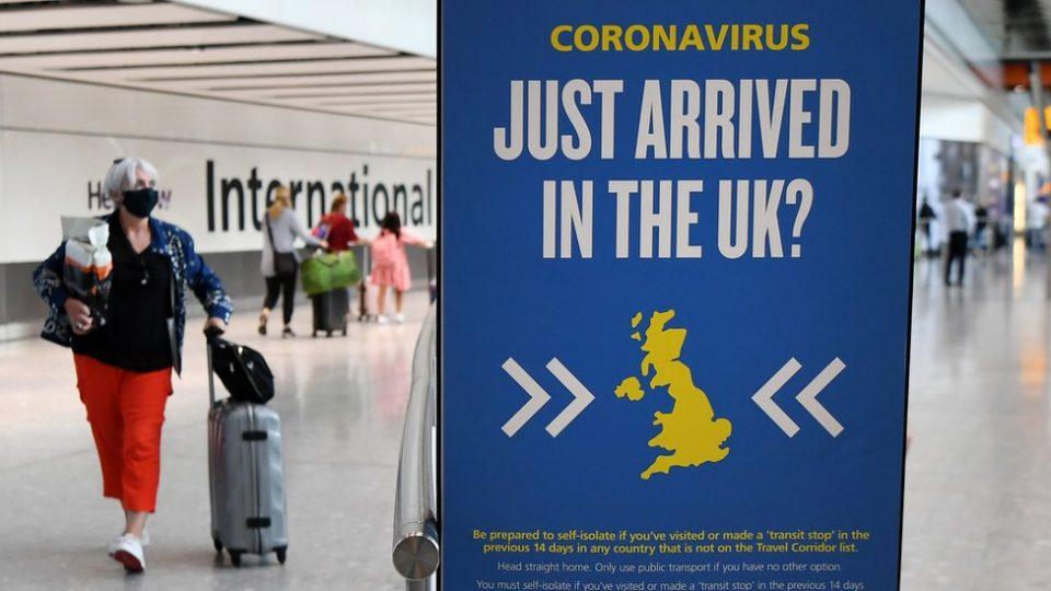 Негативен тест и изолација од 10 дена за сите патници кои ќе пристигнат во Велика Бритаија