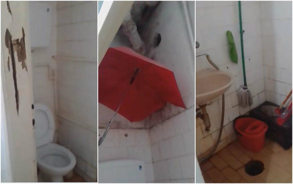 (ВИДЕО) Нов хорор од болницата во Битола: Чадор во тоалетот за да не течат фекалии врз пациентите