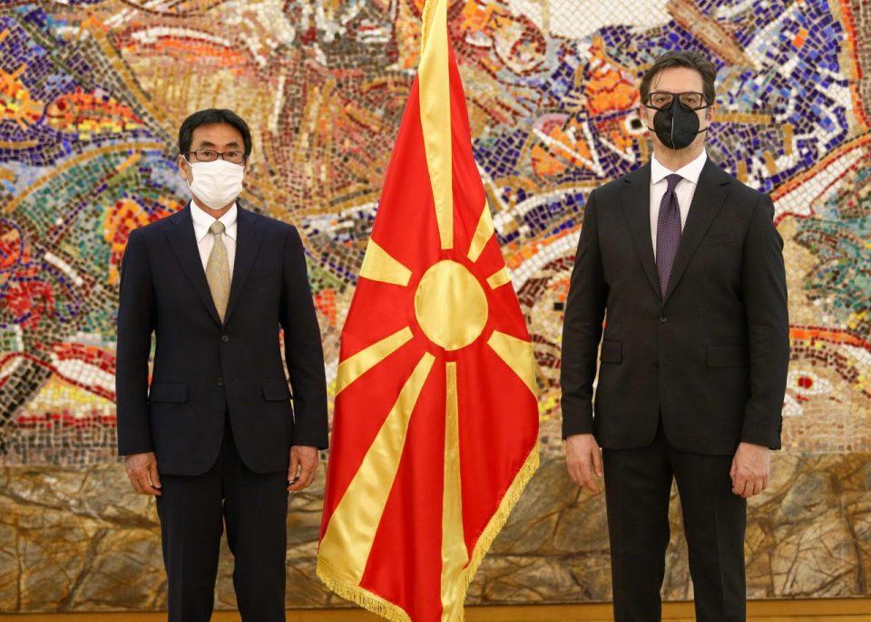 Претседателот Пендаровски ги прими акредитивните писма на новоименуваниoт амбасадор на Јапонија