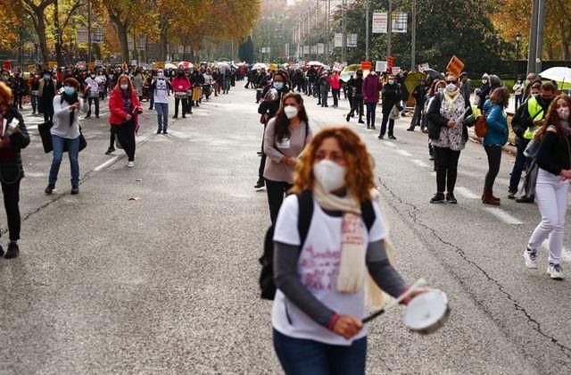 Над 4000 медицински работници на протест во Мадрид