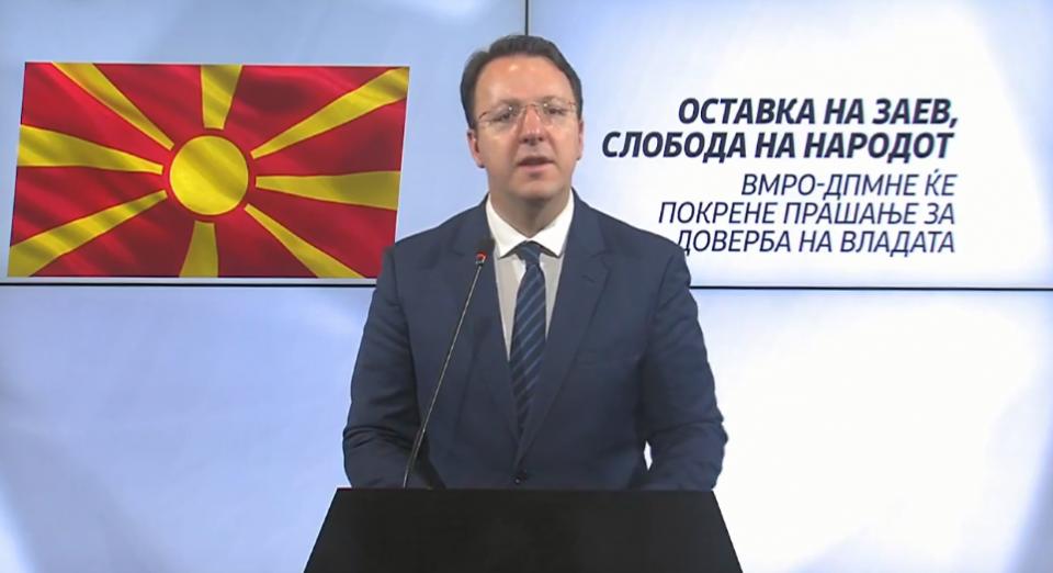 (ВИДЕО) Николоски: ВМРО-ДПМНЕ ќе покрене прашање за доверба на Владата на Зоран Заев
