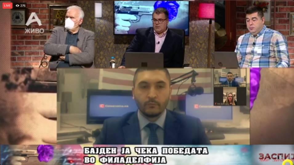 """(ВО ЖИВО) Василевски од """"Конзерватив МК"""" и новинарот Гајдов за изборите во САД!"""