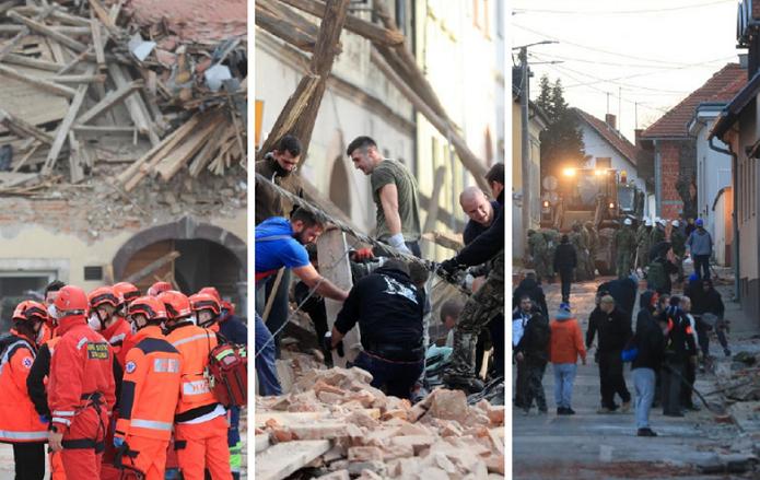 (ФОТО) Вака изгледа Петриња две недели по земјотресот