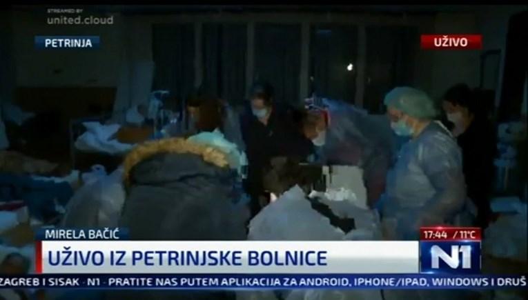 Се евакуираат пациентите од болницата во Петриња