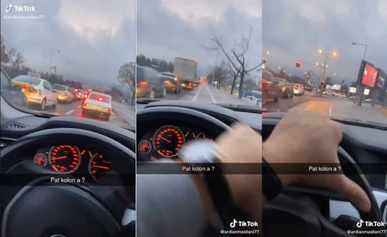(ВИДЕО) Нов опасен подвиг во Скопје: За да ја избегне гужвата вози на велосипедска патека