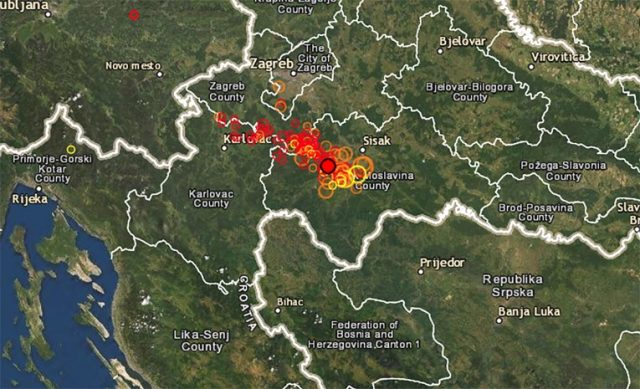 Уште еден силен земјотрес од 5,5 степени пред малку ја погоди Хрватска