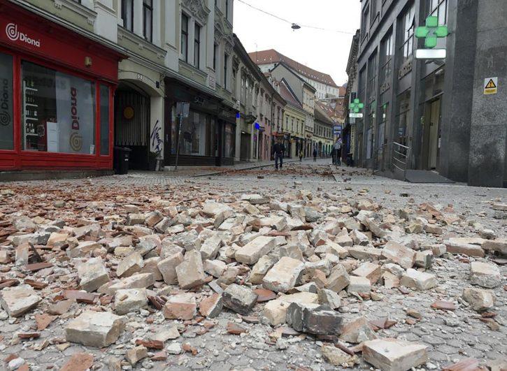 Нов потрес во Хрватска: Земјотрес со јачина од 2,9 степени го тресе Загреб