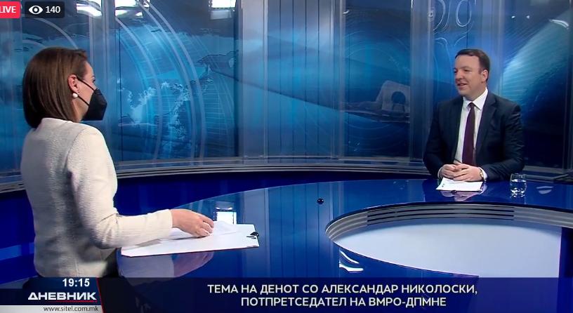 (ВИДЕО) Николоски: Странските претставници се загрижени за состојбата во земјава, знаат што се случува