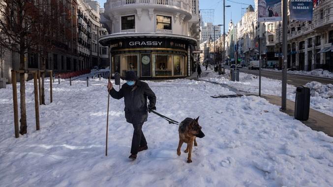 Штетите од снегот во Мадрид изнесуваат 1.4 милијарди евра
