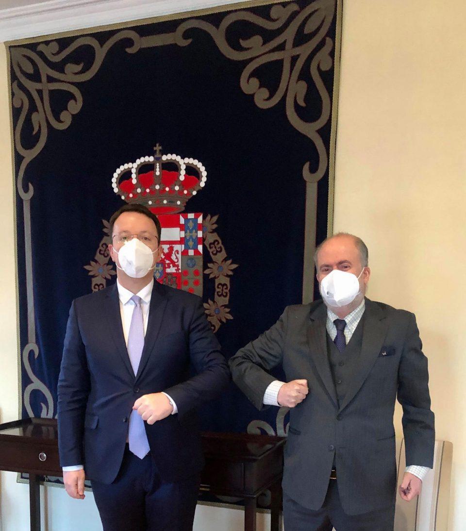 Александар Николоски на средба со амбасадорот на Шпанија Лоренцо Сера