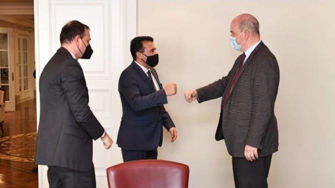 Средба на Заев со новиот економски советник од Германија: Важно креирањето одржливи развојни политики