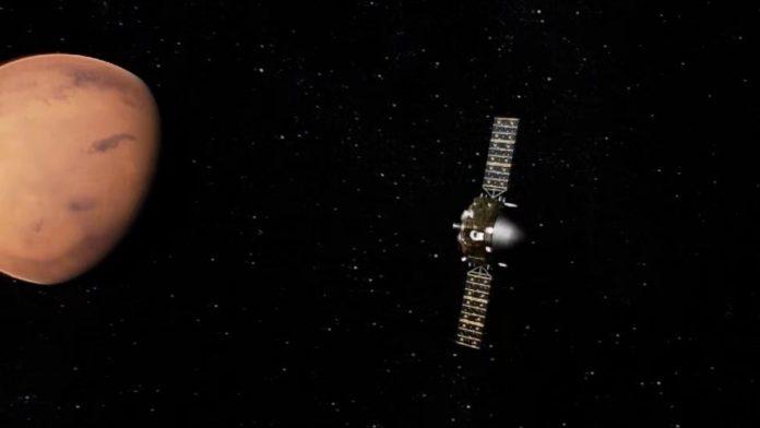 Кинескиот вселенски брод влезе во орбитата на Марс