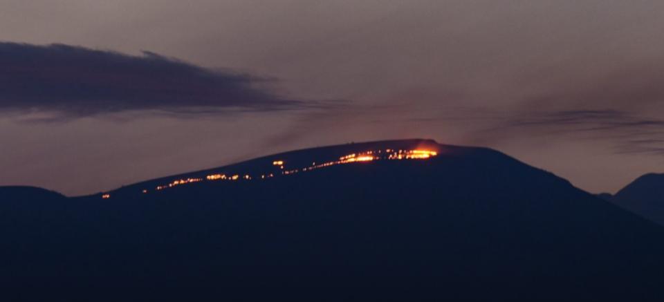 Голем пожар на планината Жеден, во близина на Скопје