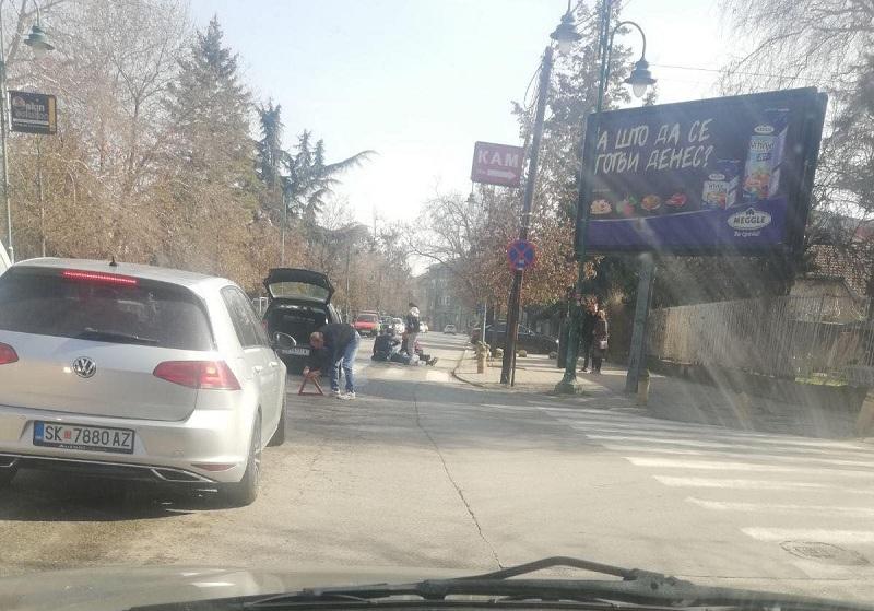 Прегазен маж на пешачки премин во Дебар Маало