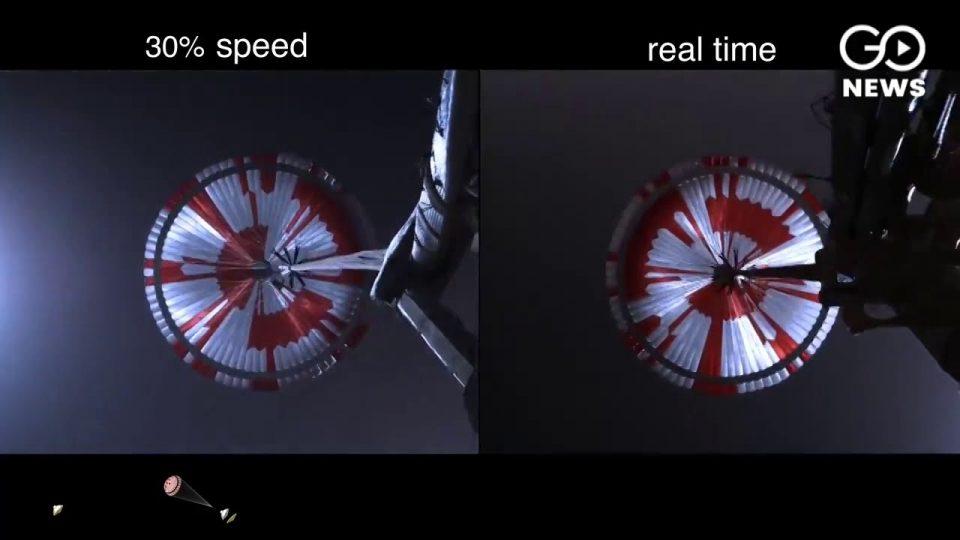 (ВИДЕО) НАСА ја објави првата снимка од слетувањето на роверот на Марс