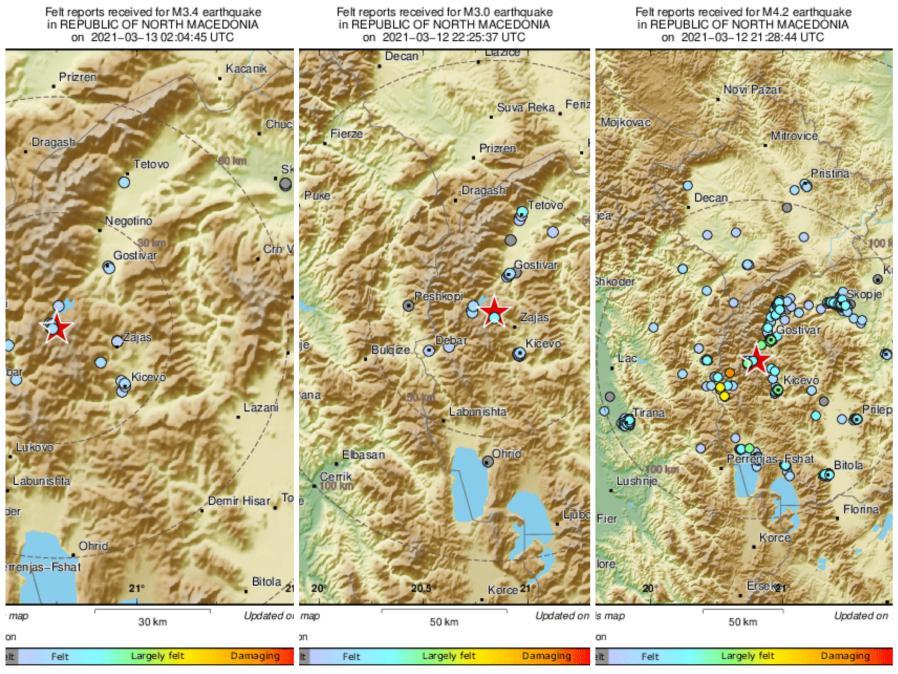 Серија земјотреси во Мавровско, последниот почувствуван рано утринава