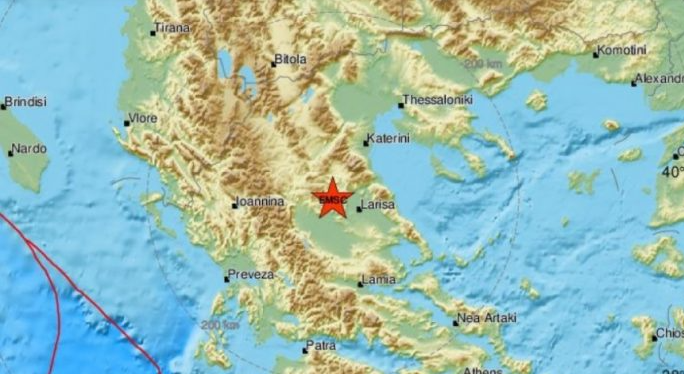 Земјотрес почувствуван во јужна Македонија, епицентарот во близина на Лариса