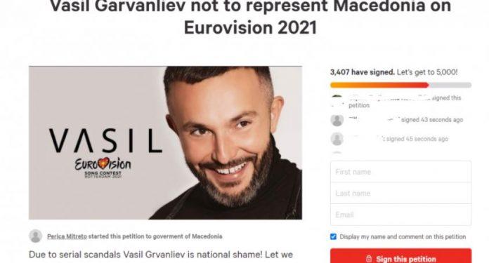Граѓаните преку петиција бараат Гарванлиев да не ја претставува Македонија на Евровизија