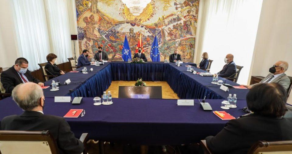 Пендаровски се сретна со претседателот и судиите на Уставниот суд