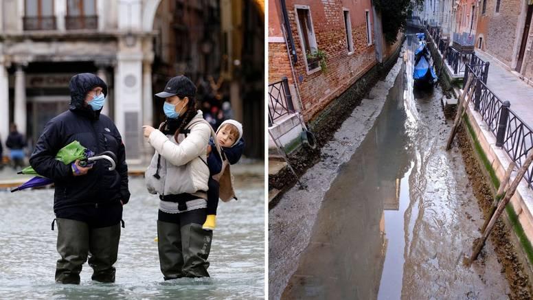 (ФОТО) Неколку месеци по големата поплава, каналите во Венеција пресушија