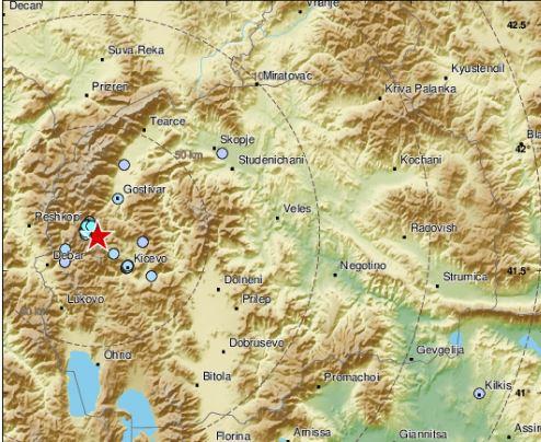 Се тресе тлото: Вечерва земјотрес во Западна Македонија